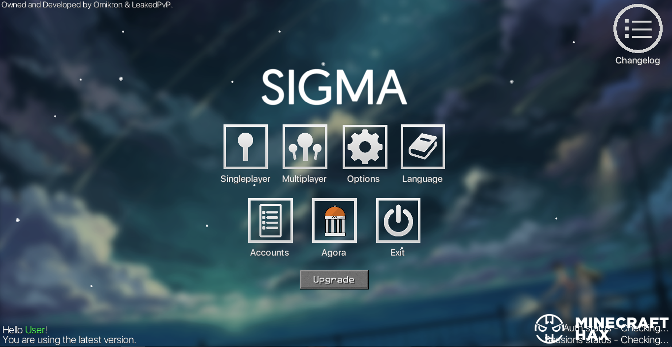 Hacked client Sigma 4 12 for Minecraft 1 8